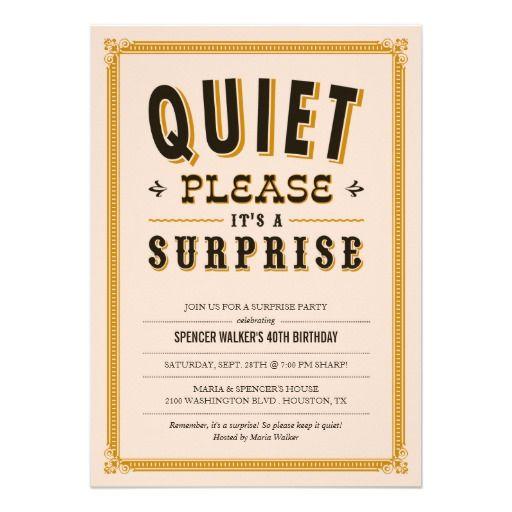 Extrêmement 20 best Cheap Surprise Party Ideas images on Pinterest | Diy party  UM18