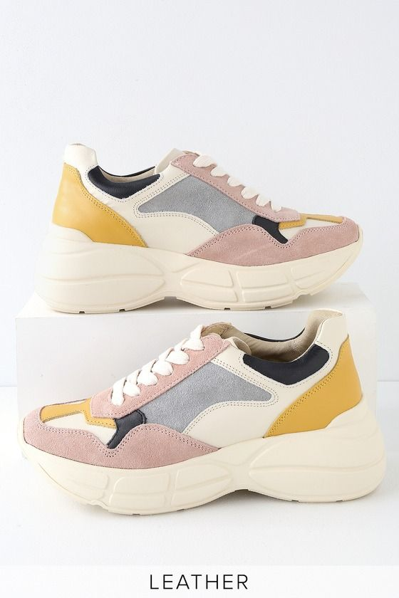 37d25fbcc7f Step out in runway style with the Steve Madden Memory Pink Multi Leather  Sneakers! These ultra-trendy sneakers feature genuine suede and leather  accents.