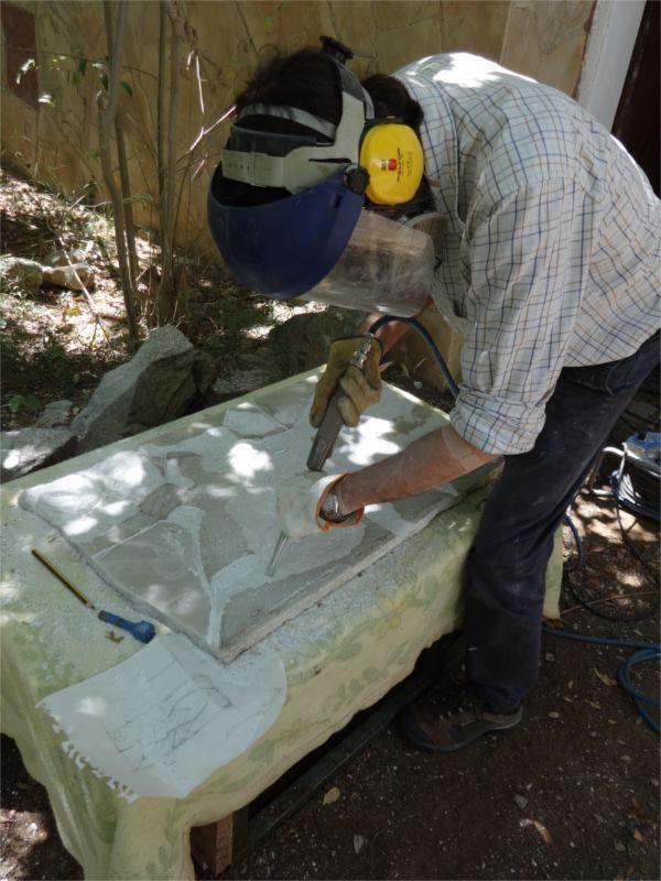 Tallant #marbre / #Marble carving / Tallando #mármol http://laufeliu.com/