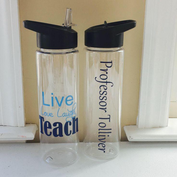 Professors Gift, Gift For Teacher, Professor Christmas Gift, Personalized Teacher Gift, Personalized Gift, Water Bottle by MissKsShop on Etsy https://www.etsy.com/listing/551959344/professors-gift-gift-for-teacher
