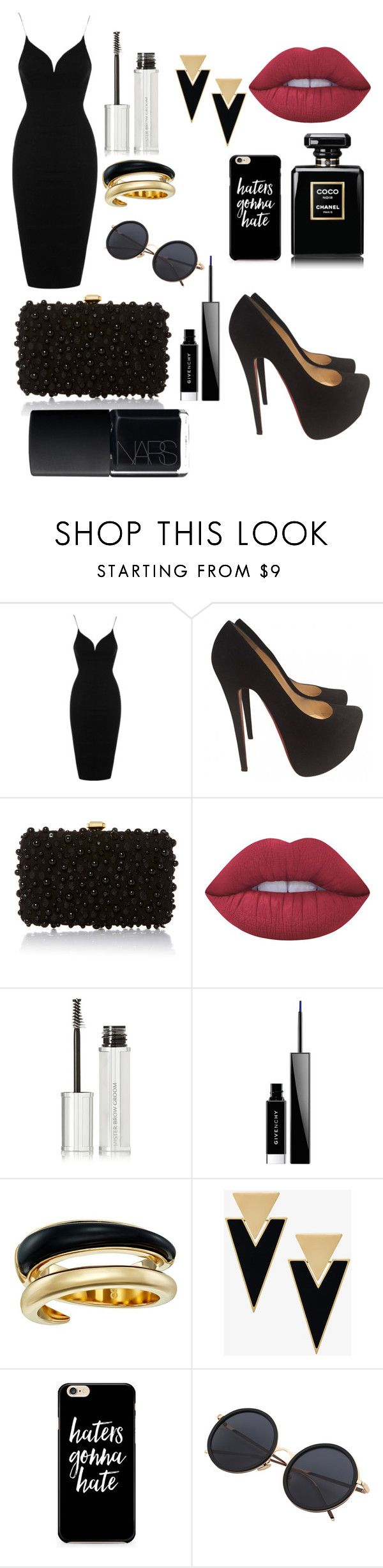 Sem título #388 by bia-melo ❤ liked on Polyvore featuring Topshop, Christian Louboutin, Elie Saab, Lime Crime, Givenchy, Michael Kors, Yves Saint Laurent and NARS Cosmetics