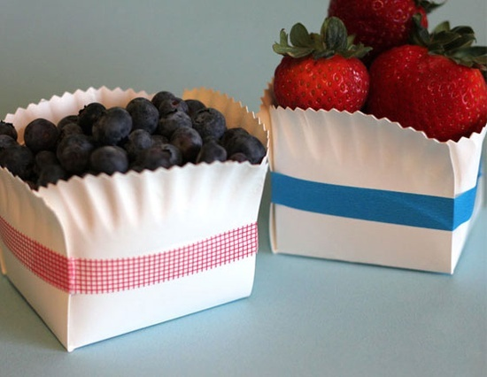 paper plate basket- so cool! @ Home Ideas and Designs