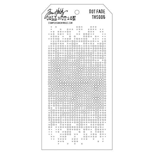 "Stampers Anonymous THS006 Cling Stamps Layered Stencil 4.125 by 8.5/"" Dot Fade"