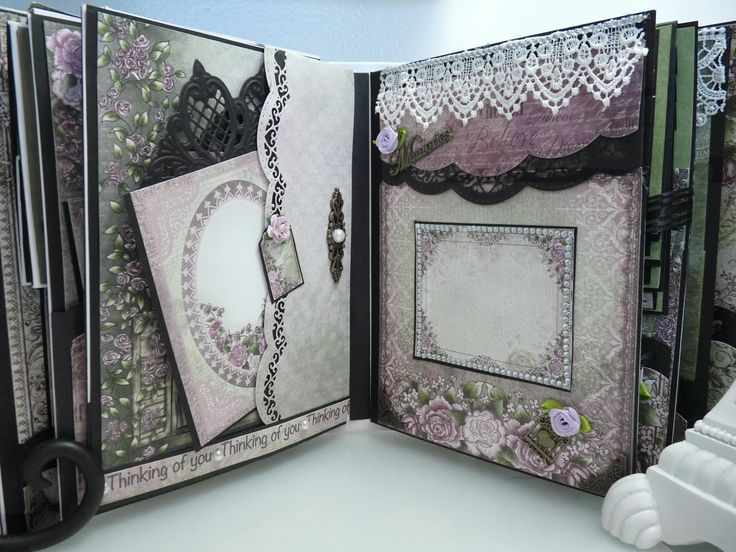 Heartfelt Creations  Raindrops on Roses    Mini Album - Scrapbook.com                                                                                                                                                                                 More