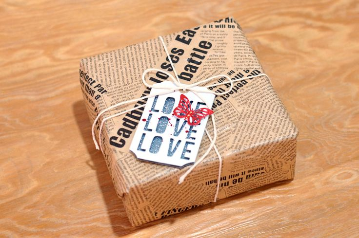 STUDIO H ART: Love Tag Gift Wrapping