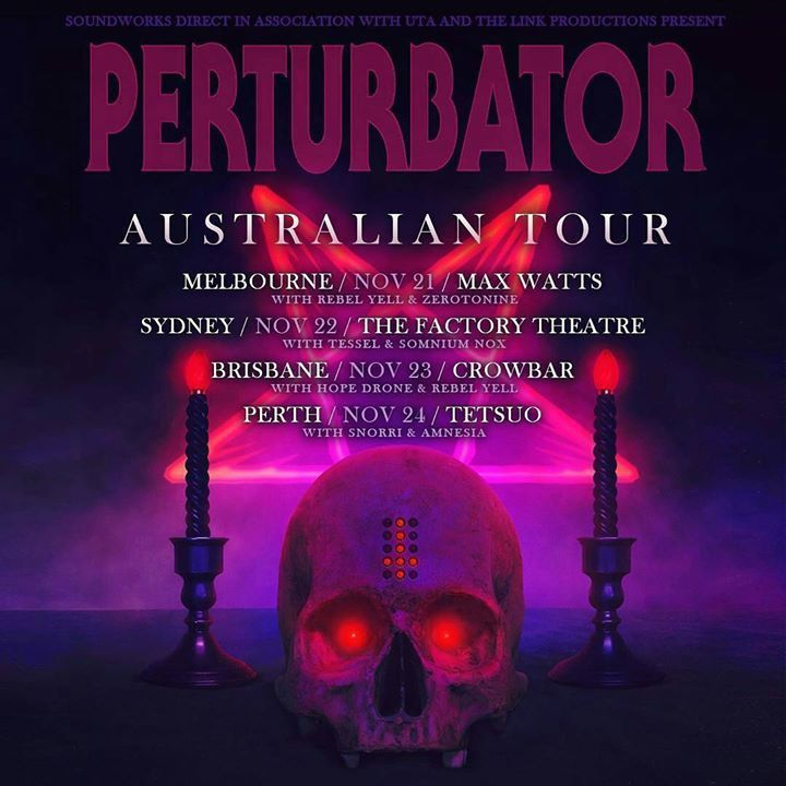 **SHOW ANNOUNCEMENT** Perturbator   Hope Drone   REBEL YELL At Crowbar, Nov 23  Thanks to Soundworks Touring  Tickets:  http://soundworksdirect.eventbrite.com / www.oztix.com.au #drone #shopping #fashion # FactoryDirect