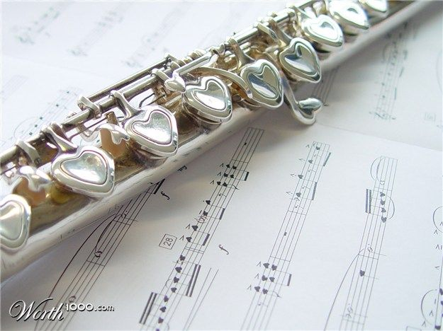 WOW!!! My flute is so boring! Check out those keys! Hearts!!