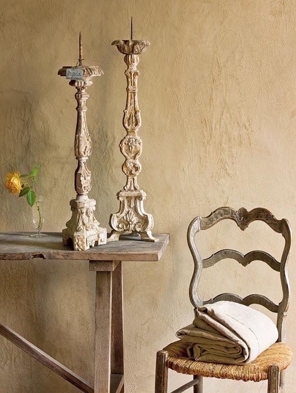 antigua silla rustica provenzal del siglo XVIII