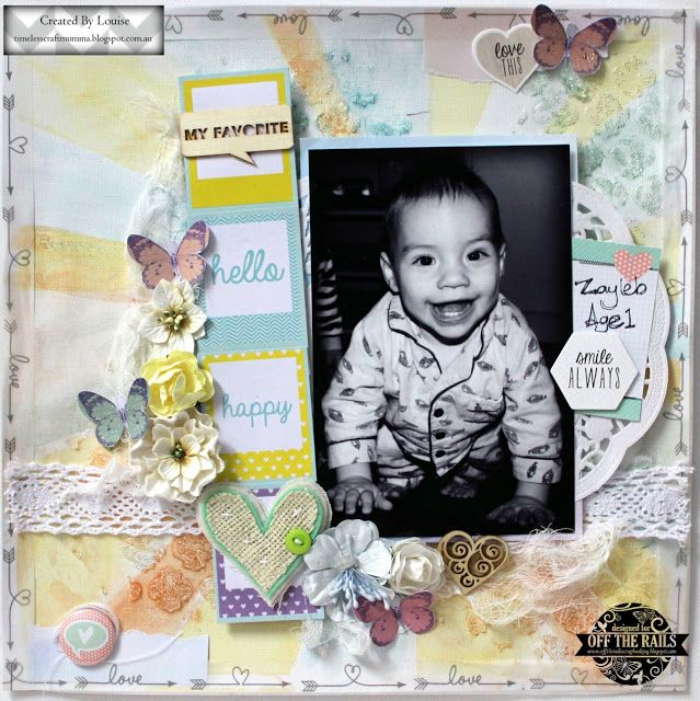 Louise Turner - TimelessCraftMumma created for the July 2016 challenge at Off the Rails Scrapbooking
