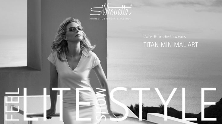 Cate Blanchett is the new face of Silhouette. - www.vingerhoets-optics.be