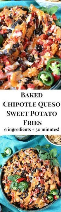 Baked Chipotle Queso Baked Chipotle Queso Sweet Potato Fries!!...  Baked Chipotle Queso Baked Chipotle Queso Sweet Potato Fries!! this deliciously easy appetizer takes just six ingredients  30 minutes so easy and fun to eat! Recipe : http://ift.tt/1hGiZgA And @ItsNutella  http://ift.tt/2v8iUYW