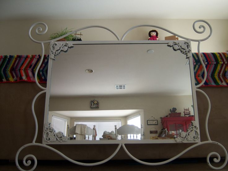 Vineyard Wedding Mirror Wrought Iron Mirror Shabby Chic Mirror HUGE by MakeMeShabby on Etsy https://www.etsy.com/listing/206903121/vineyard-wedding-mirror-wrought-iron