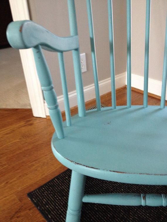 Rocking Chair painted in Provence Annie Sloan Chalk Paint
