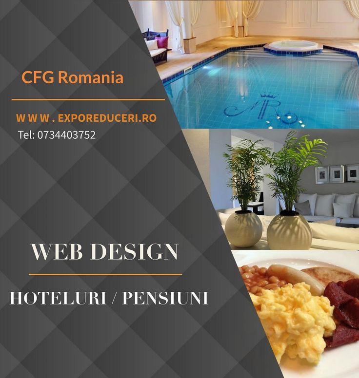 Oferim Unitatilor de Cazare din Romania urmatoarele servicii de promovare: • CREARE WEBSITE • IMBUNATATIRE WEBSITE EXISTENT • CLIPURI VIDEO • DESIGN LOGO / BANNER • SOCIAL MEDIA • PROMOVARE / ORGANIZARE EVENIMENTE Solicita acum detaliile de care ai nevoie! Tel: 0734.403.752 / Email: office@exporeduceri.ro #webdesign #promovare #website #pensiuni #hotelinRomania http://bit.ly/2fmZc5D