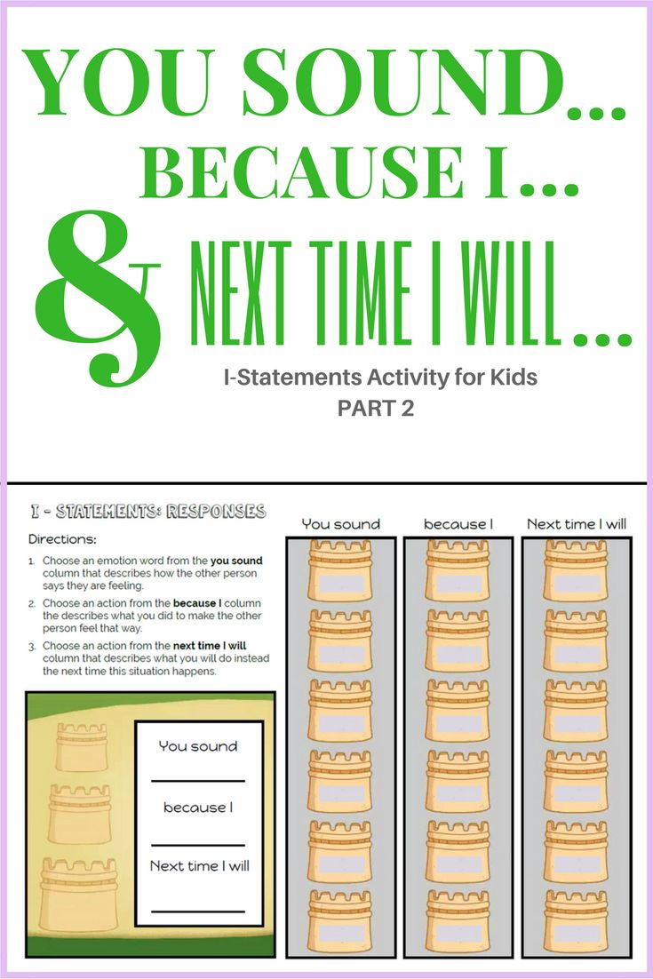 i statements activities - How to respond to i statements. Great for  elementary school counseling