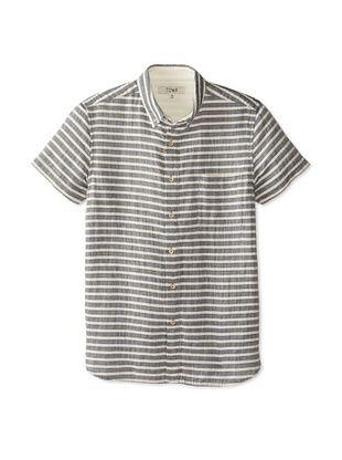 57% OFF Tovar Men's Julius Short Sleeve Shirt (Dark Indigo Stripe)