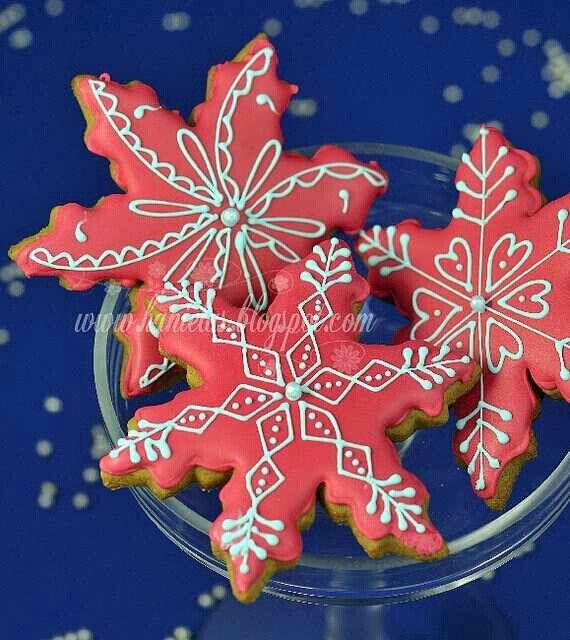 Pretty Christmas desing cookies