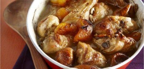 Gestoofde kip in zoete saus van honing en specerijen