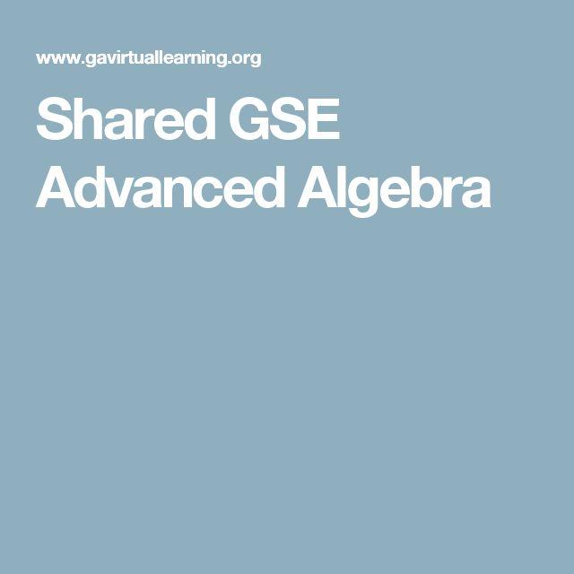 Shared GSE Advanced Algebra