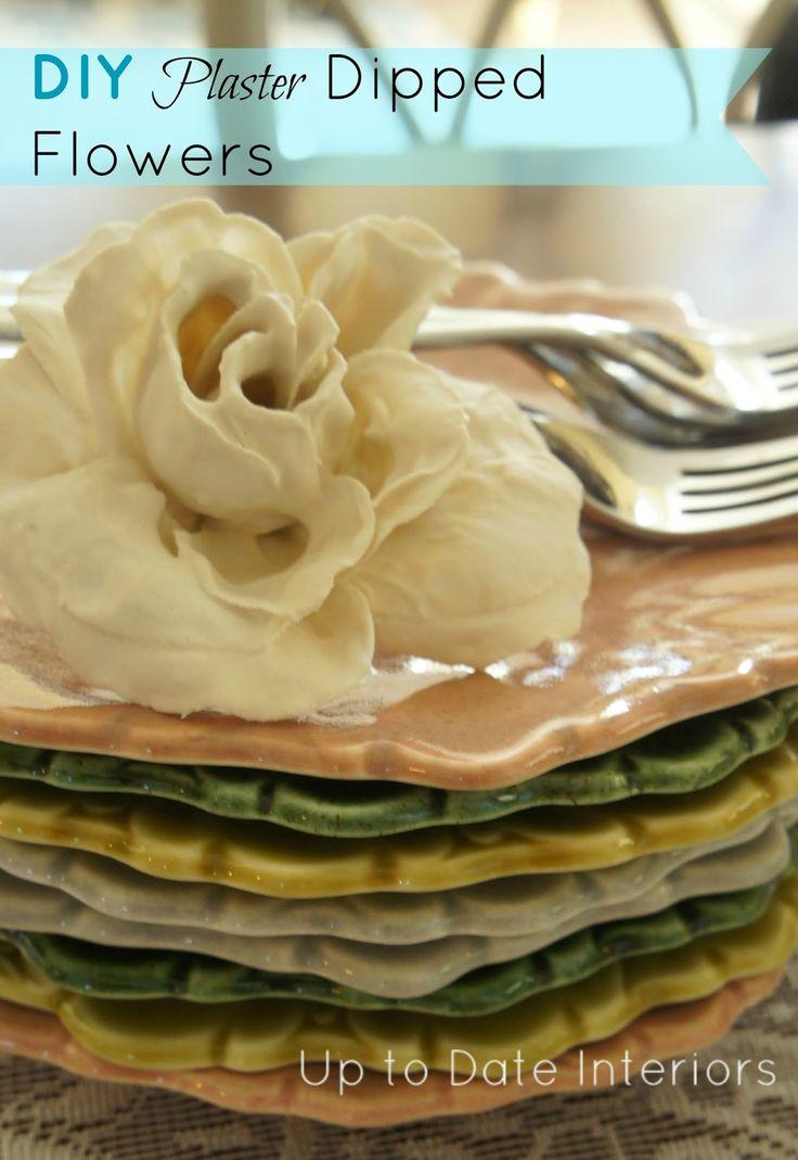 Easy DIY plaster dipped flowers (for under $5!)