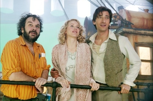Peter Jackson, Adrien Brody and Naomi Watts on-set of King Kong (2005)