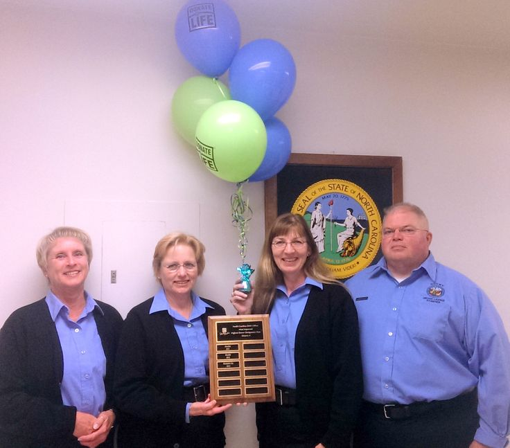 Feeling the love from the eastern coast of NC? You should! The Elizabeth City Driver's License office had the most improved rate for its district in 2013 - that means more community members came in and registered to be heroes. Thanks to this great team of Examiners for asking that important question each and every time! #DonateLife #NCDMV