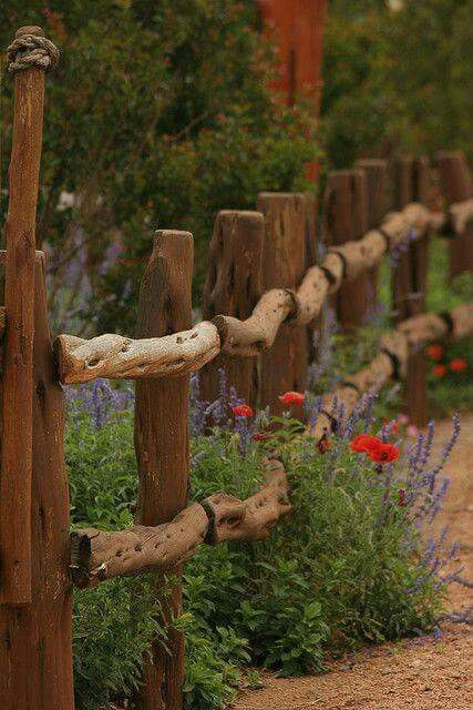 A most Gorgeous natural wood fence! Wow!