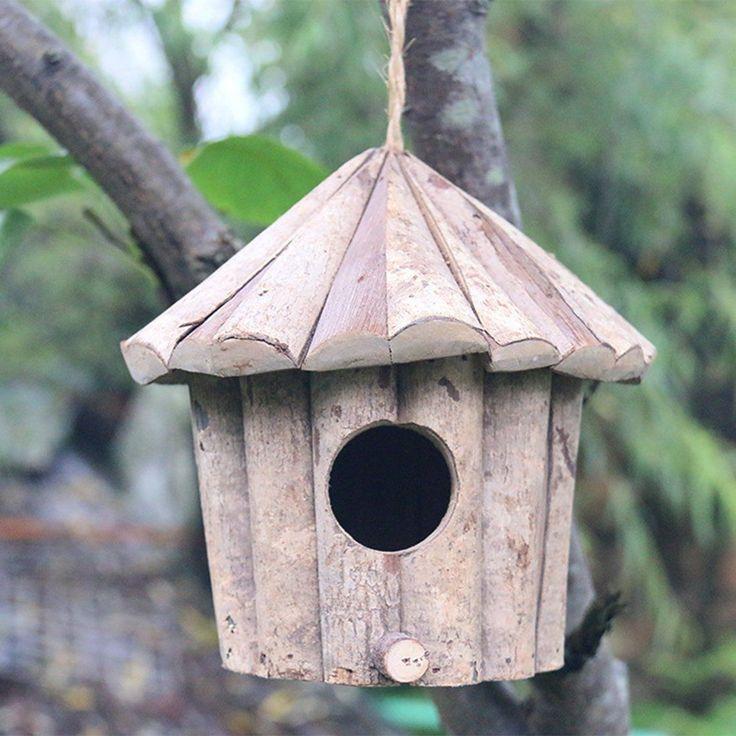 Birdhouse Soild Wood Corrosion Resistant Cozy Hut
