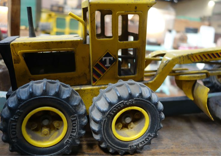 Tonka retro road grader, Antiguedades Carroza