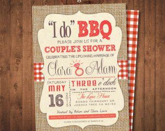 Honey Do Shower Invitation Couples Bbq Digital By