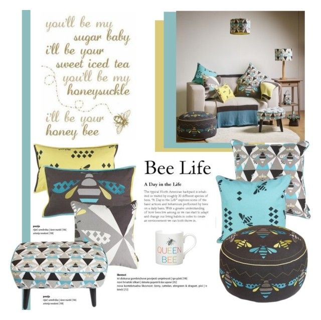 Bee Motif By Viva 12 On Polyvore Featuring Interior Interiors Design