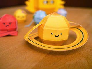 Kerajinan anak, miniatur tata surya (saturnus), ilmu pengetahuan untuk SD