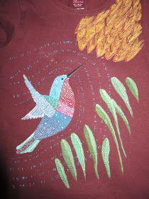 Camiseta pintada- dibujo copiado de Geninne Zlatkis - made by pececito arcoiris