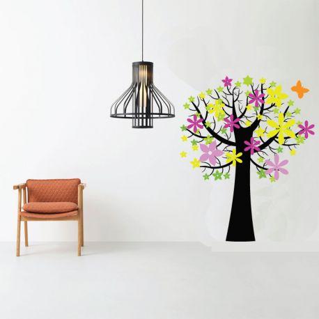 Αυτοκόλλητο τοίχου με δέντρο