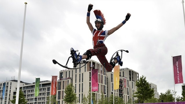 London 2012...this guy is pumped
