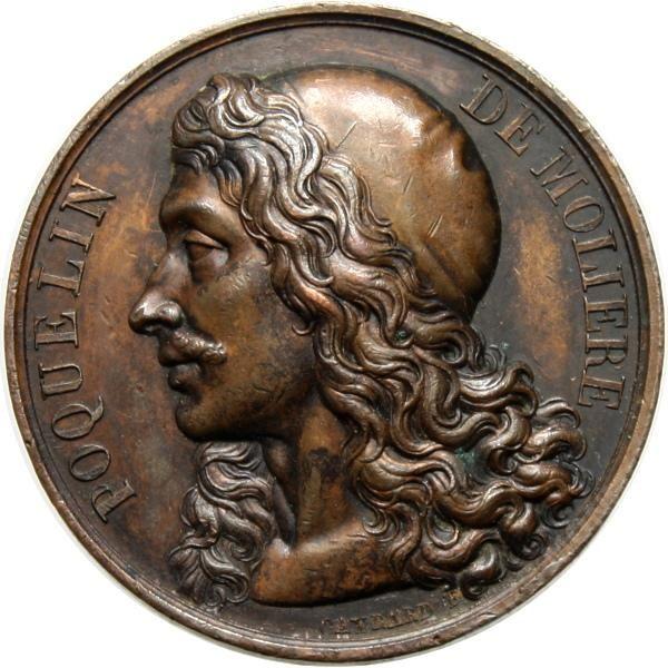 FRANCJA POQUELIN DE MOLIERE 1816 ROK BRĄZ
