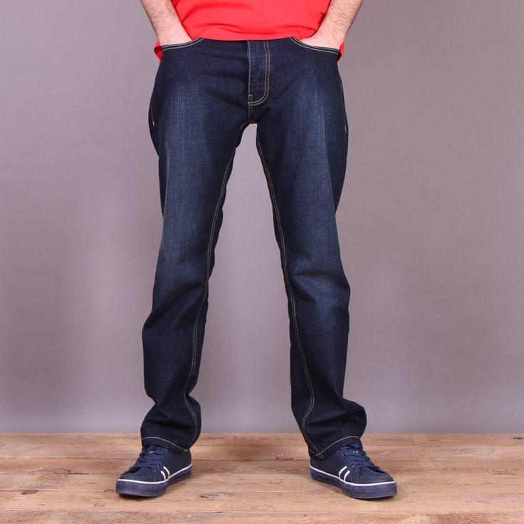 Niebieskie spodnie jeansowe Dickies Michigan Vintage Wash - regular fit / www.brandsplanet.pl / #dickies streetwear