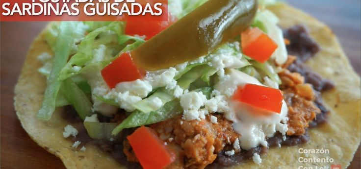 Receta de Tostadas de Sardinas Guisadas Recipe in English: Click here. Gracias por ver las recetas :) Te deseo un hermoso día! Ley  INGREDIENTES 500 gramos de sardinas en tomate ( usé 4 lata…