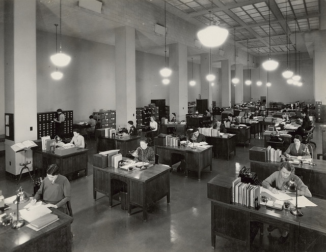 Division of Classification and Cataloging, 1937: Building, Division, Architecture Reading, Offices, 1937, Classification, National Archive, Solitude Lost, Design