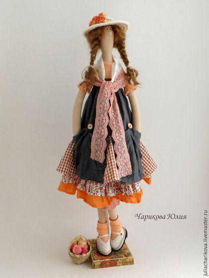 Куклы Тильды ручной работы. Заказать ОХОТНИК (оранжевый). Юлия Чарикова (Вареньевна). Ярмарка Мастеров. Тильда кукла, кружево эластичное