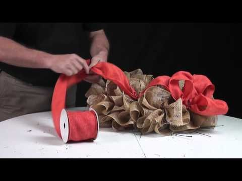 ▶ Deco Poly Mesh Make A Wreath Video - YouTube