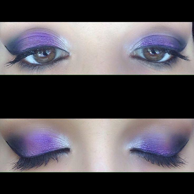 #makeup #viola #bianco #nero