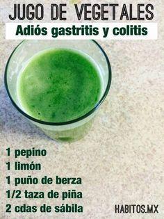 JUGO DE VEGETALES, adiós gastritis y colitis….., con receta.