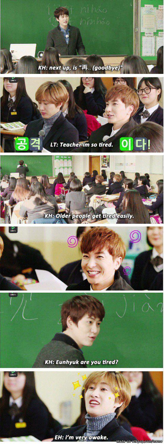 i want a teacher like this. Actually, i want Kyuhyun as my teacher.