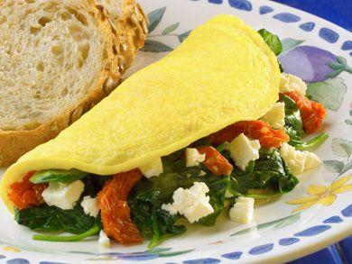 Overstuffed Mediterranean Omelet | mrfood.com