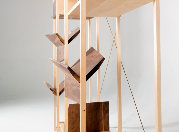 "Стеллаж ""Planed Planes"" Shelving ""Planed Planes"". Fly Massive Millworks. Solid maple and american walnut. Массив клёна и американского ореха. #fly_massive #flymassive #fly_massive_millworks #workshop #joinery #woodworker #tools #wood #joinery_workshop #millworks #furniture #modernism #woodporn #constructivism #design #russian #interior #designer #home #decor #woodworking #walnut #maple #shelving #modern #rack"