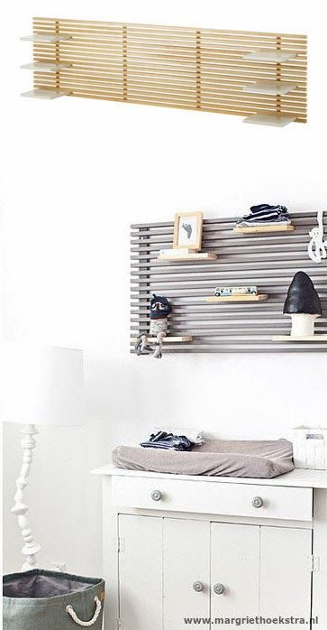 DIY inspiration | #IKEA HACKS FOR KIDS - Mandal wall shelving