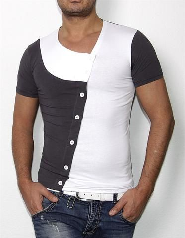 New Arrival T shirt Men Fashion Patchwork Sport Casual Short Sleeve Top - Loluxe - 1
