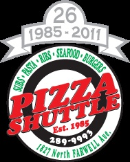 Pizza Shuttle in Milwaukee, WI...wish I was eating some of their BBQ Chicken Pizza right now