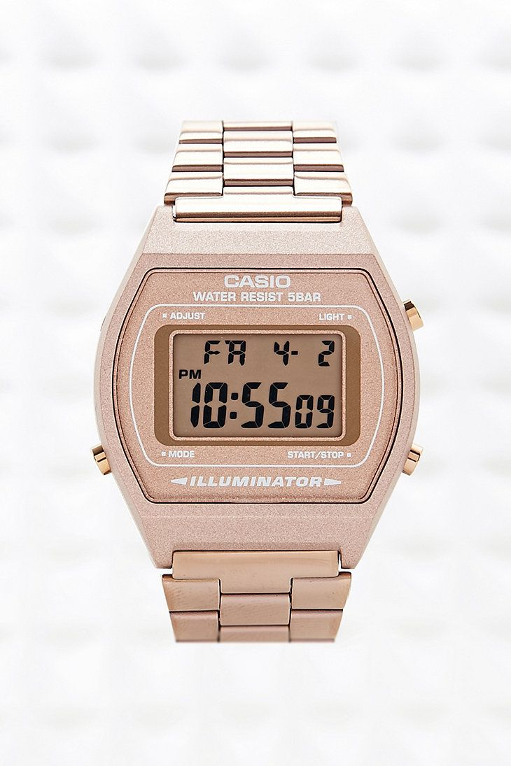 Casio Digital Watch in Bronze - Urban Outfitters